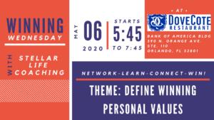 Winning Wednesday - Meaningful Networking - May @ DoveCote   Orlando   Florida   United States